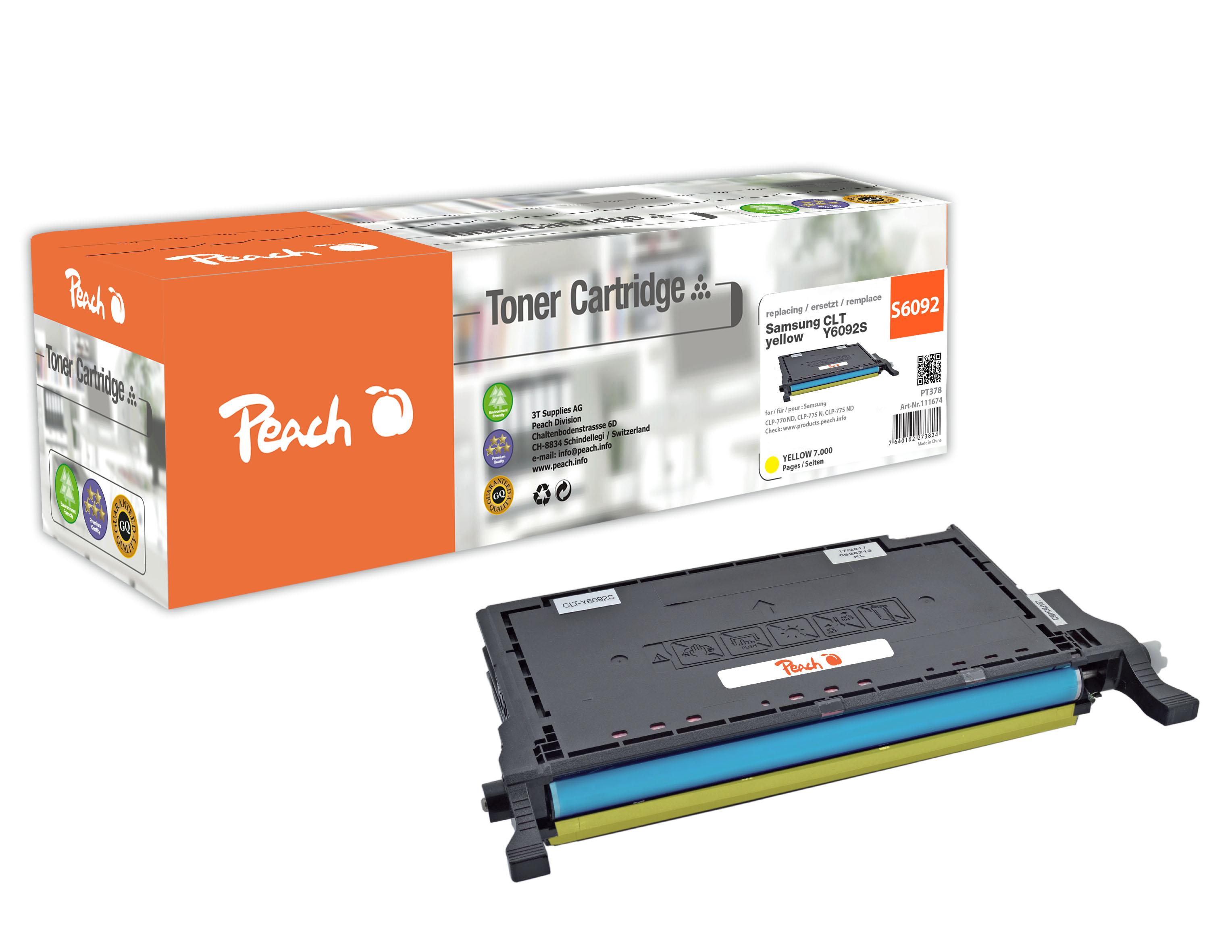 Peach  Tonermodul gelb kompatibel zu Hersteller-ID: CLT-Y6092S Tinte