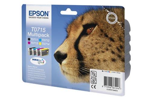 Original  Multipack Tinte schwarz, color, Hersteller-ID: T0715, T07154010 Tinte