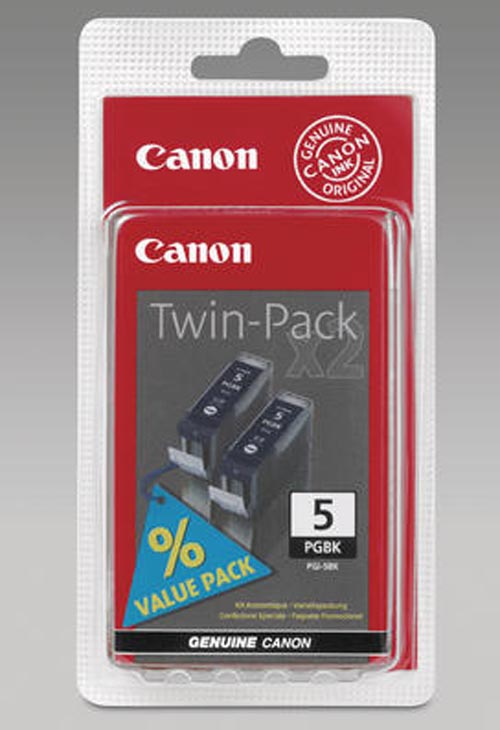 Original 2  Tintenpatronen schwarz, Hersteller-ID: PGI-5BKTW Tinte