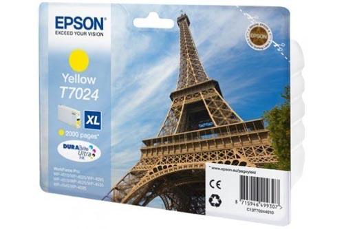 Original  Tintenpatrone XL gelb Hersteller-ID: T7024, T702440 Druckerpatronen