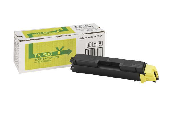 Original  Tonerpatrone gelb Hersteller-ID: TK-580Y Toner