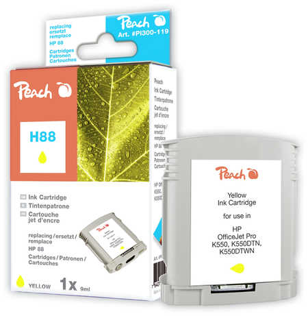Peach  Tintenpatrone gelb kompatibel zu Hersteller-ID: No. 88, C9388AE Toner