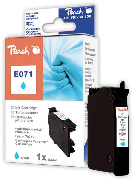Peach  Tintenpatrone cyan kompatibel zu Hersteller-ID: T0712 Druckerpatronen