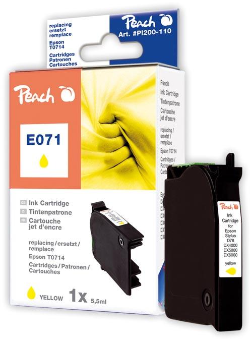 Peach  Tintenpatrone gelb kompatibel zu Hersteller-ID: T0714 Druckerpatronen