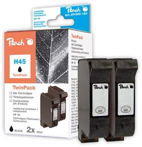 Peach  Doppelpack Druckköpfe schwarz kompatibel zu Hersteller-ID: No. 45, 51645A Toner