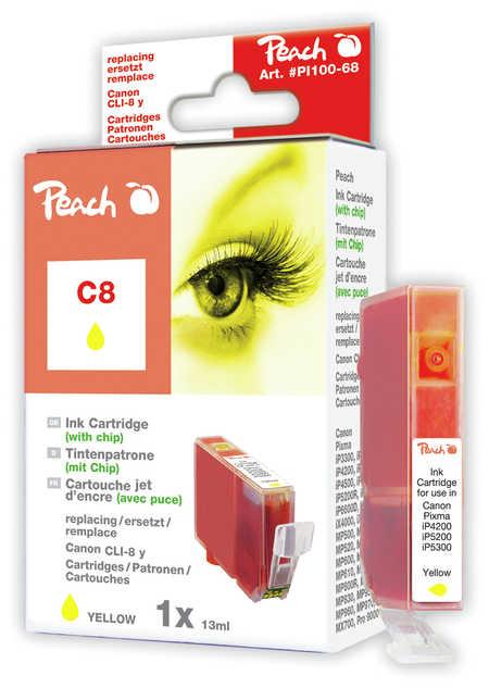 Peach  Tintenpatrone gelb kompatibel zu Hersteller-ID: CLI-8y, 0623B001 Druckerpatronen