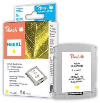 Peach  Tintenpatrone gelb kompatibel zu Hersteller-ID: No. 88XL, C9393AE Toner