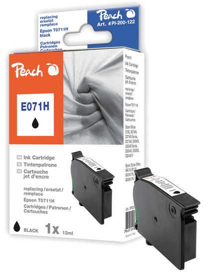 Peach  Tintenpatrone schwarz kompatibel zu Hersteller-ID: T0711H, C13T07114H10 Druckerpatronen