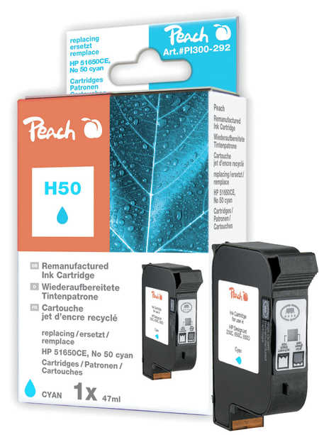 Peach  Druckkopf cyan kompatibel zu Hersteller-ID: No. 50, 51650CE Druckerpatronen