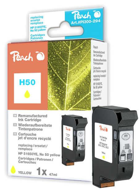 Peach  Druckkopf gelb kompatibel zu Hersteller-ID: no.50, 51650YE Druckerpatronen