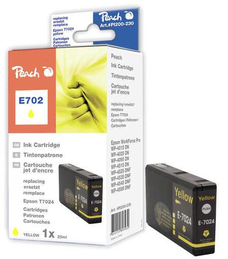 Peach  Tintenpatrone gelb kompatibel zu Hersteller-ID: T7024 Druckerpatronen