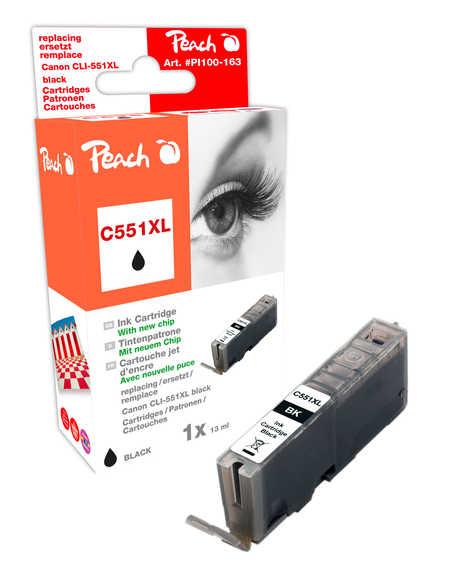 Peach  XL-Tintenpatrone foto schwarz kompatibel zu Hersteller-ID: CLI-551, CLI-551BK XL Druckerpatronen