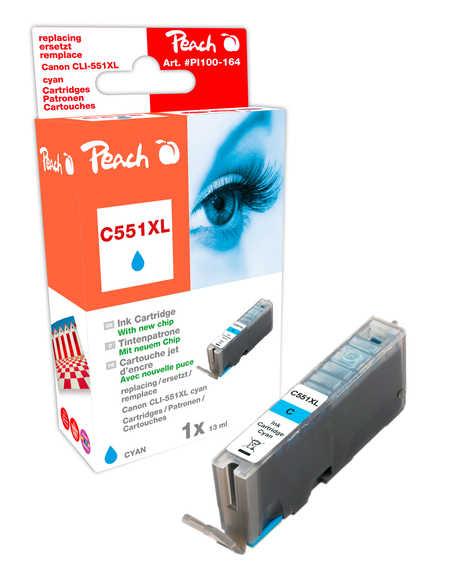 Peach  XL-Tintenpatrone cyan kompatibel zu Hersteller-ID: CLI-551, CLI-551C XL Tinte