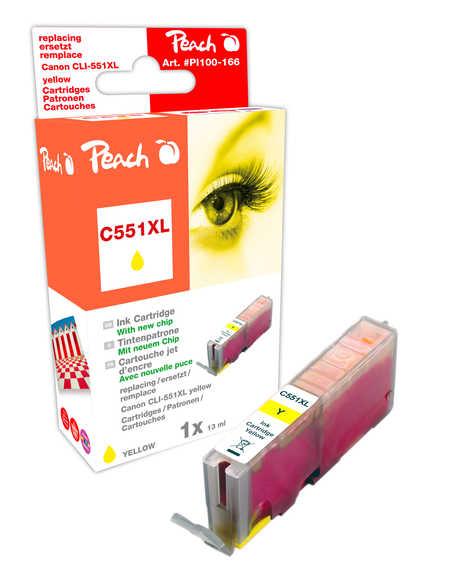 Peach  XL-Tintenpatrone gelb kompatibel zu Hersteller-ID: CLI-551, CLI-551Y XL Druckerpatronen