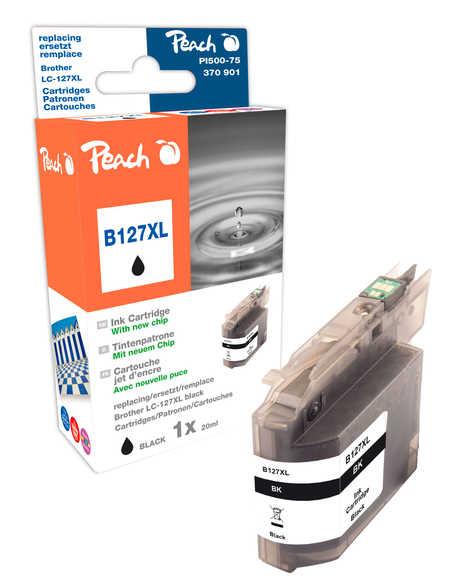 Peach  Tintenpatrone schwarz XL, kompatibel zu Hersteller-ID: LC-127XL Druckerpatronen