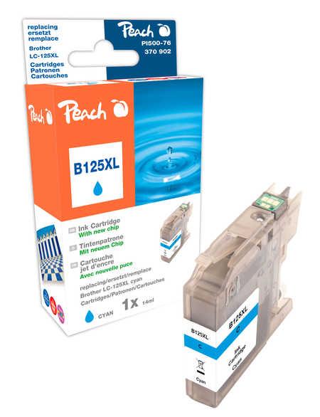 Peach  Tintenpatrone cyan XL, kompatibel zu Hersteller-ID: LC-125XL Druckerpatronen