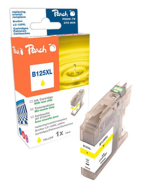 Peach  Tintenpatrone gelb XL, kompatibel zu Hersteller-ID: LC-125XL Toner