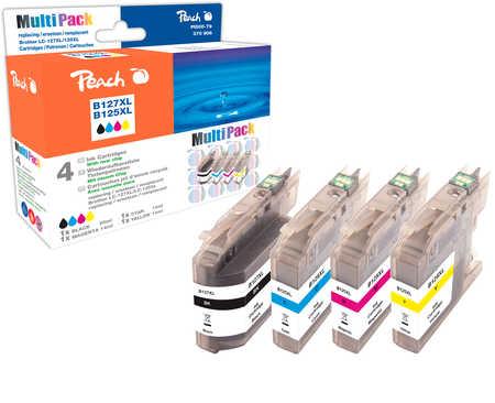 Peach  Spar Pack Tintenpatronen kompatibel zu Hersteller-ID: LC-125XL, LC-127XL Tinte