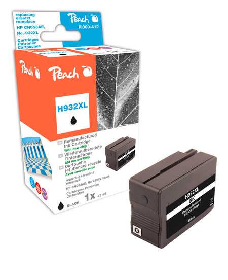 Peach  Tintenpatrone schwarz HC kompatibel zu Hersteller-ID: No. 932XL, CN053AE Druckerpatronen