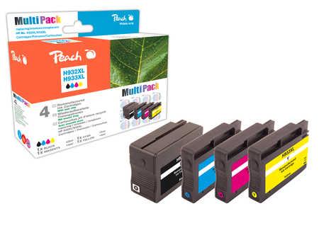 Peach  Spar Pack Tintenpatronen kompatibel zu Hersteller-ID: No. 932XL, No. 933XL Druckerpatronen