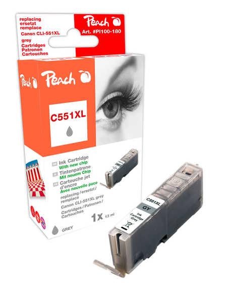 Peach  XL-Tintenpatrone grau kompatibel zu Hersteller-ID: CLI-551gyXL Toner