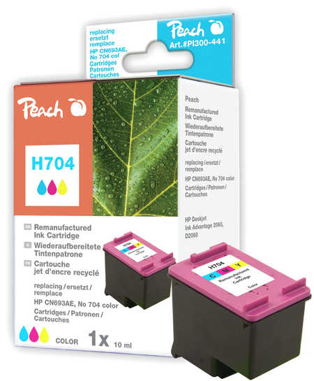 Peach  Druckkopf color kompatibel zu Hersteller-ID: No. 704, CN693AE Tinte