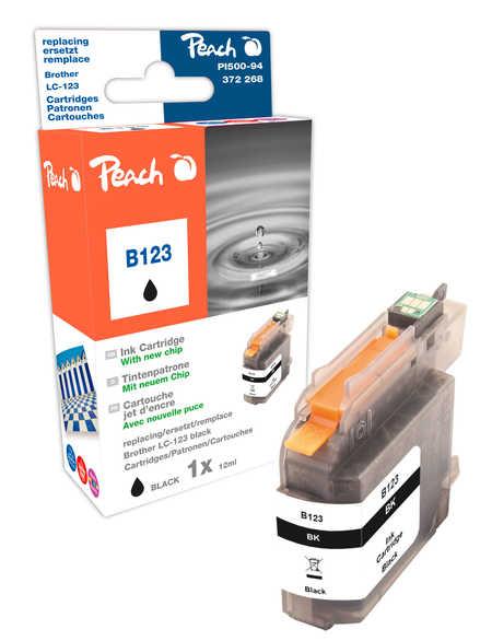Peach  Tintenpatrone schwarz kompatibel zu Hersteller-ID: LC-123 Toner