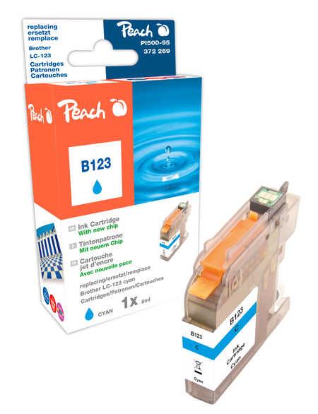 Peach  Tintenpatrone cyan kompatibel zu Hersteller-ID: LC-123 Toner
