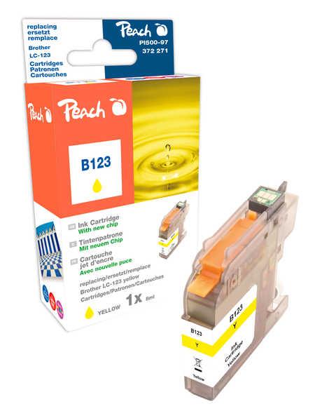 Peach  Tintenpatrone gelb kompatibel zu Hersteller-ID: LC-123 Druckerpatronen