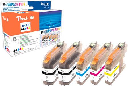 Peach  Spar Plus Pack Tintenpatronen kompatibel zu Hersteller-ID: LC-123 Tinte
