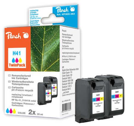 Peach  Doppelpack Druckköpfe color kompatibel zu Druckerpatronen