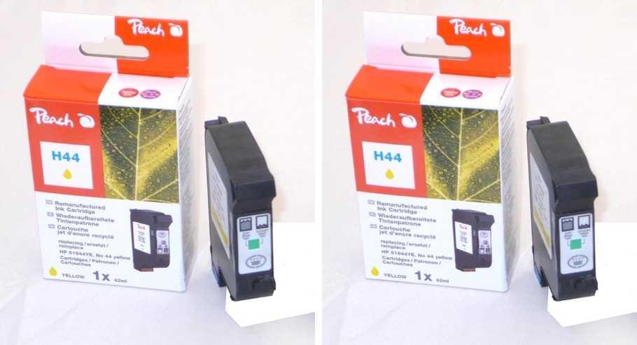 Peach  Doppelpack Druckköpfe gelb kompatibel zu Hersteller-ID: No. 44, 51644YE Druckerpatronen