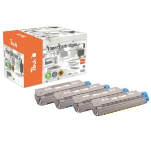 Peach  Spar Pack Tonermodule kompatibel zu Hersteller-ID: 44315308,44315307,44315306,44315305 Druckerpatronen