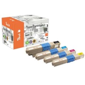 Peach  Spar Pack Tonermodule kompatibel zu Hersteller-ID: 44469804, 44469722, 44469723, 44469724 Druckerpatronen
