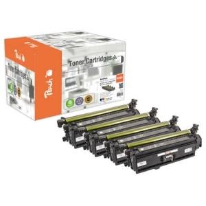 Peach  Spar Pack Tonermodule kompatibel zu Hersteller-ID: CE250X, CE251A, CE252A, CE253A Toner