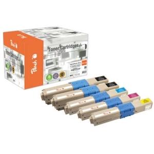 Peach  Spar Pack Plus Tonermodule kompatibel zu Hersteller-ID: 44469803, 44469704, 44469705, 44469706 Tinte