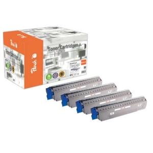 Peach  Spar Pack Tonermodule kompatibel zu Hersteller-ID: MC851-Series Toner