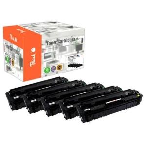 Peach  Spar Pack Plus Tonermodule kompatibel zu Hersteller-ID: No. 201X, CF400X*2, CF401X, CF403X, CF402X Tinte