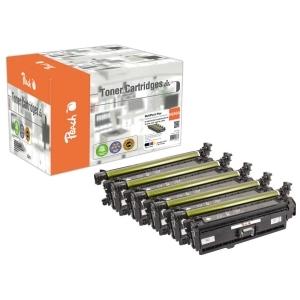 Peach  Spar Pack Tonermodule kompatibel zu Hersteller-ID: HP 507, CE400A, CE401A, CE402A, CE403A Toner