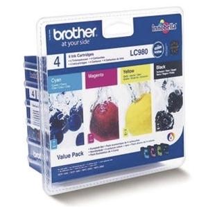 Original  Valuepack Tinte schwarz, color, Hersteller-ID: LC-980VAL Tinte