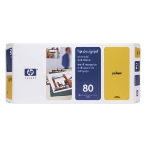 Original  Druckkopf gelb + Reiniger Tinte