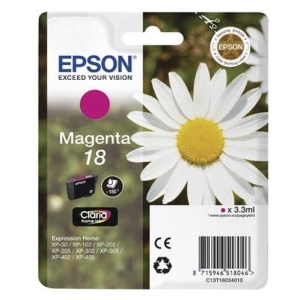 Original  Tintenpatrone magenta Hersteller-ID: No. 18 m, T18034 Toner
