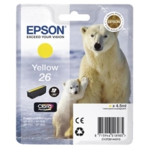 Original  Tintenpatrone gelb Hersteller-ID: No. 26 y, T2614 Toner