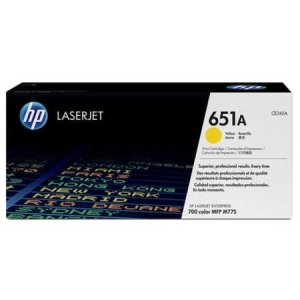 Original HP LJ Pro Enterprise M775, yellow, OEM Hersteller-ID: No. 651A,CE340A Druckerpatronen
