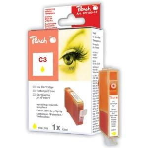 Peach  Tintenpatrone gelb kompatibel zu Hersteller-ID: BCI-3e y, BCI-5 y, BCI-6 y Druckerpatronen