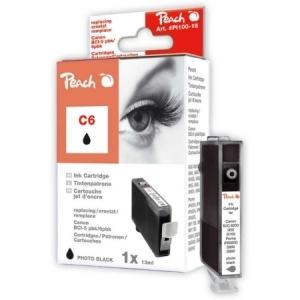 Peach  Tintenpatrone photo schwarz kompatibel zu Hersteller-ID: BCI-6 bk Druckerpatronen