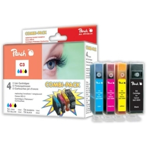Peach  Spar Pack Tintenpatronen kompatibel zu Hersteller-ID: BCI-3e-series Druckerpatronen