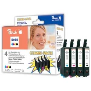 Peach  Spar Pack Tintenpatronen kompatibel zu Hersteller-ID: T0556 (T0551, T0552, T0553, T0554) Toner