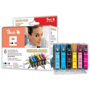 Peach  Spar Pack Tintenpatronen kompatibel zu Hersteller-ID: BCI-6-series Tinte
