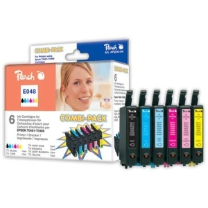 Peach  Spar Pack Tintenpatronen kompatibel zu Hersteller-ID: T0481, T0482, T0483, T0484, T0485, T0486 Druckerpatronen